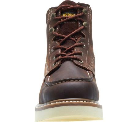 "Men's Wolverine Loader 6"" Wedge Soft-Toe Boot, Brown Leather, large, image 4"