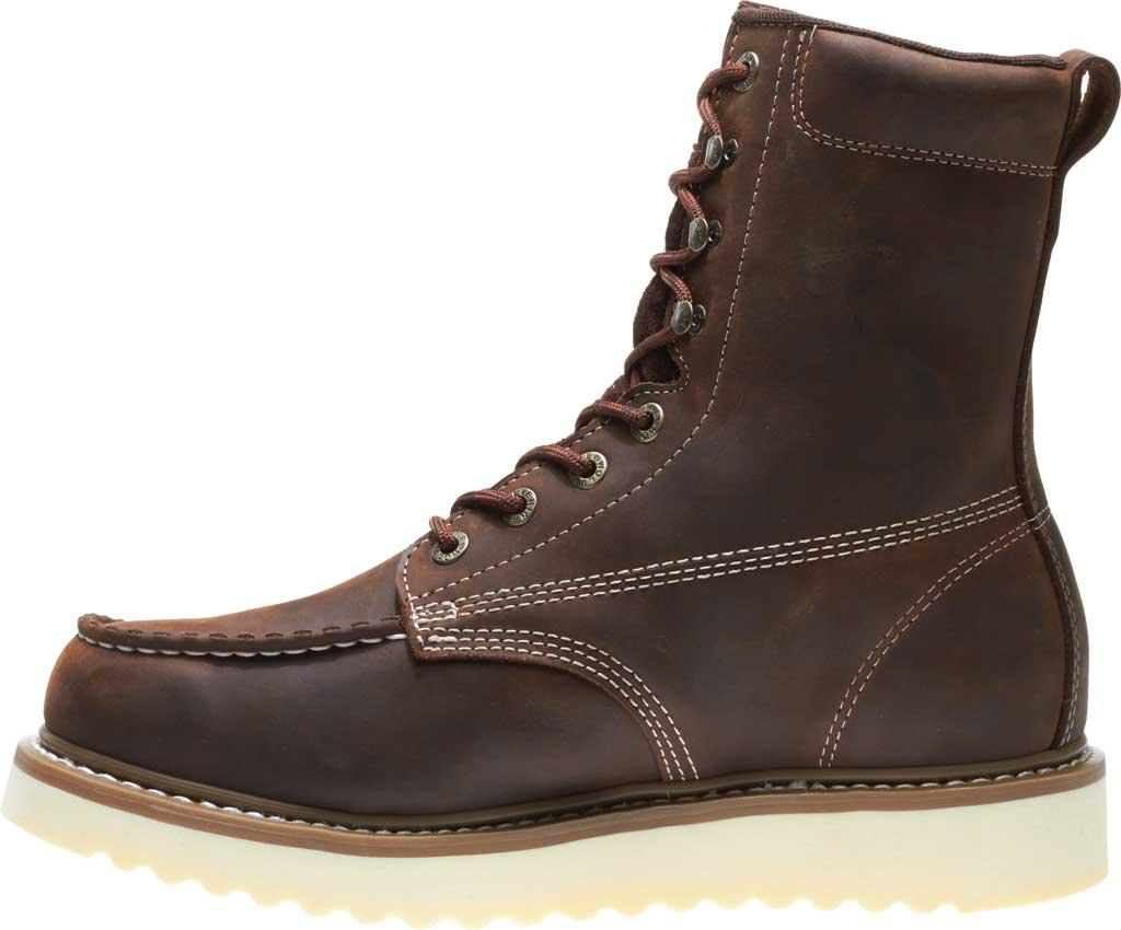 "Men's Wolverine Loader 8"" Wedge Soft-Toe Boot, Brown Leather, large, image 3"