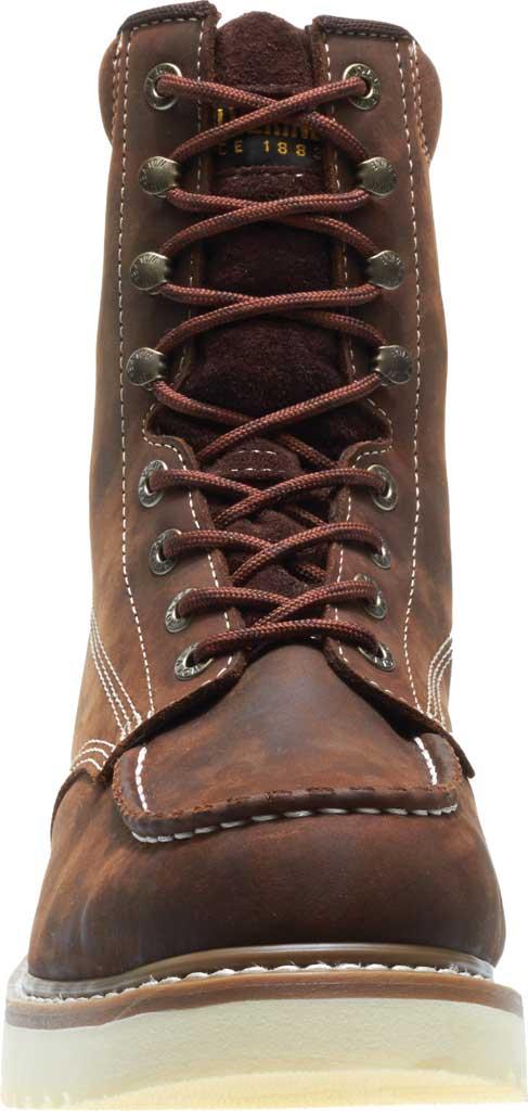 "Men's Wolverine Loader 8"" Wedge Soft-Toe Boot, Brown Leather, large, image 4"