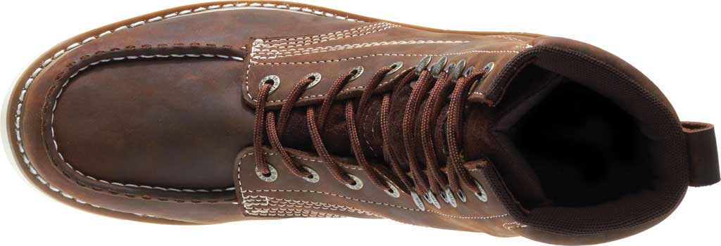 "Men's Wolverine Loader 8"" Wedge Soft-Toe Boot, Brown Leather, large, image 6"