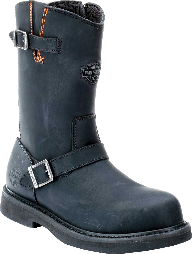 Men's Harley-Davidson Jason Steel Toe Boot, Black Leather, large, image 1
