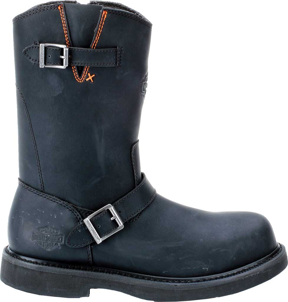 Men's Harley-Davidson Jason Steel Toe Boot, Black Leather, large, image 2