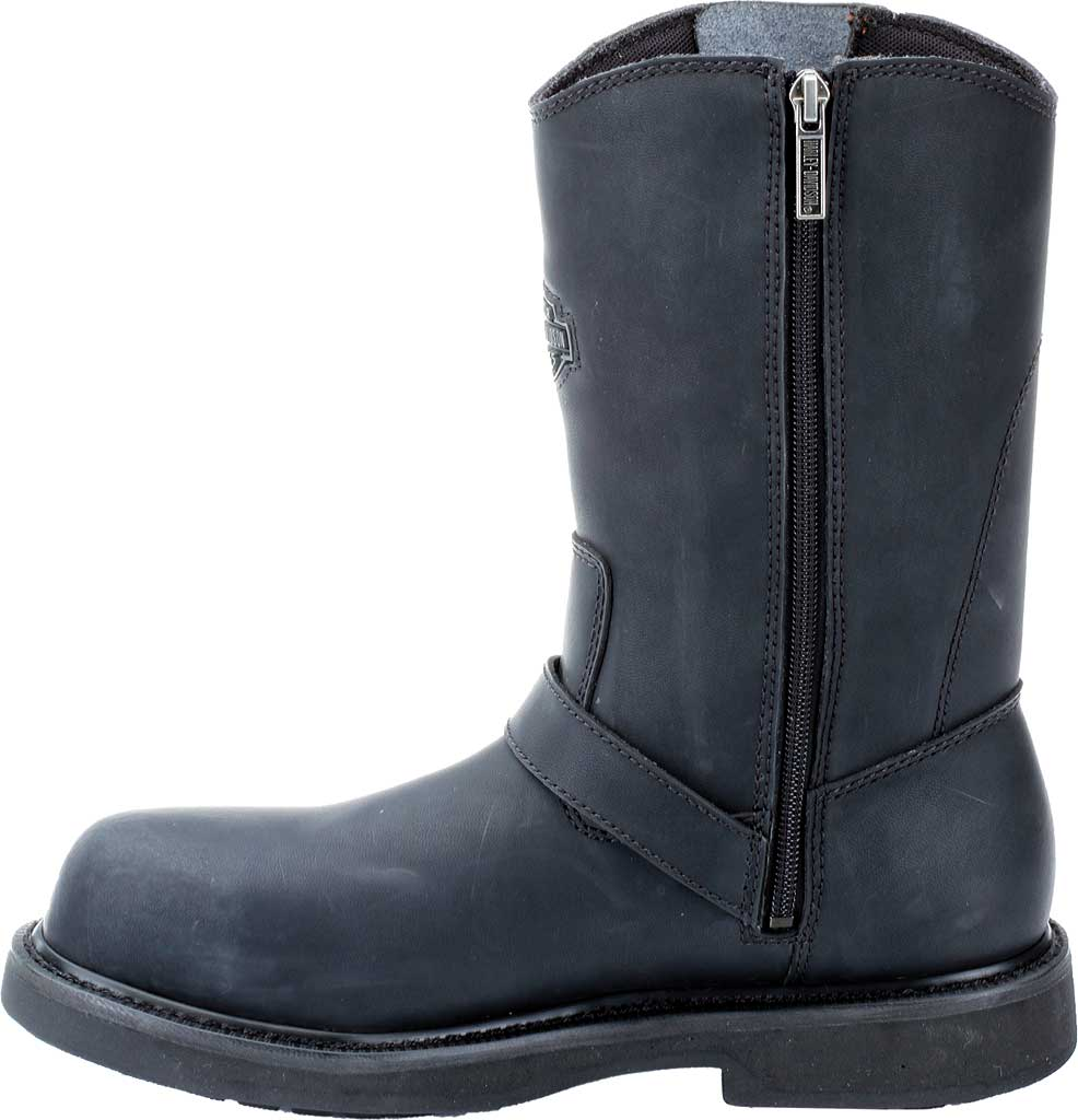 Men's Harley-Davidson Jason Steel Toe Boot, Black Leather, large, image 3