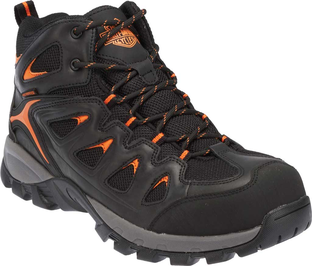 Men's Harley-Davidson Woodridge Waterproof Boot, Black Leather, large, image 1