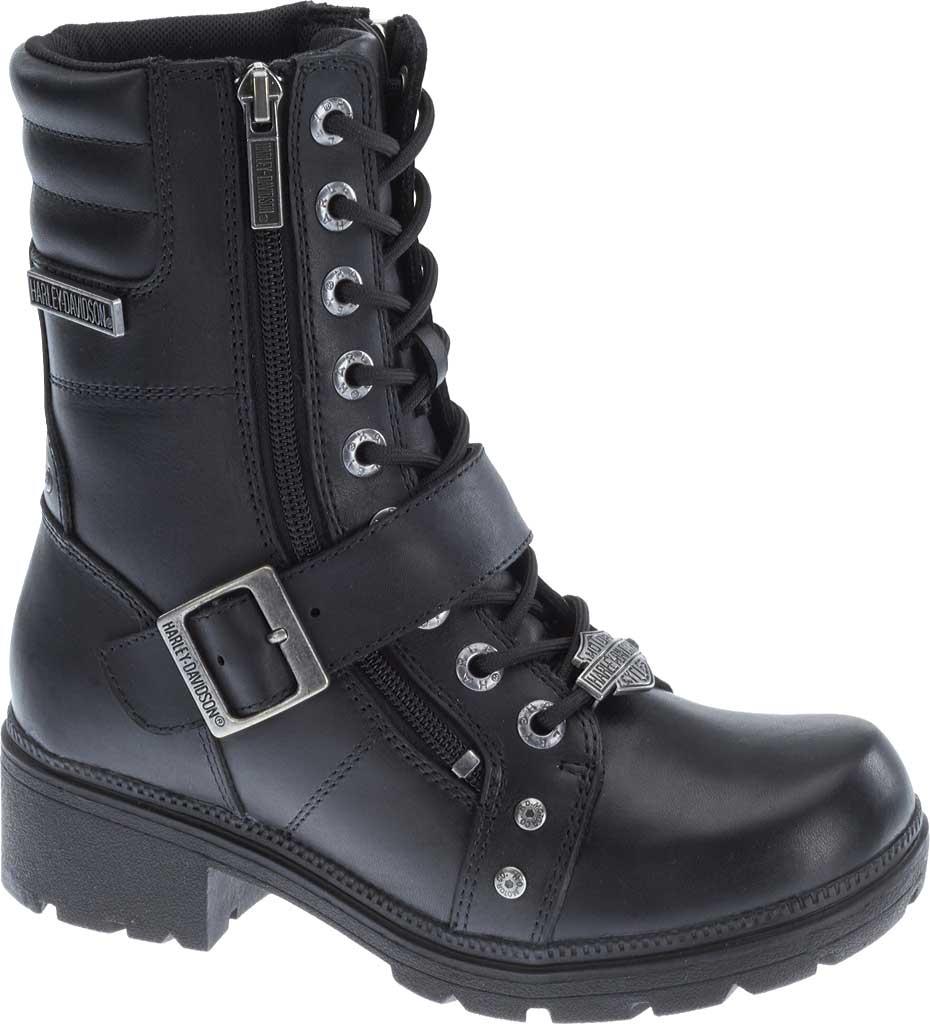 Women's Harley-Davidson Talley Ridge Combat Boot, Black Full Grain Leather, large, image 1