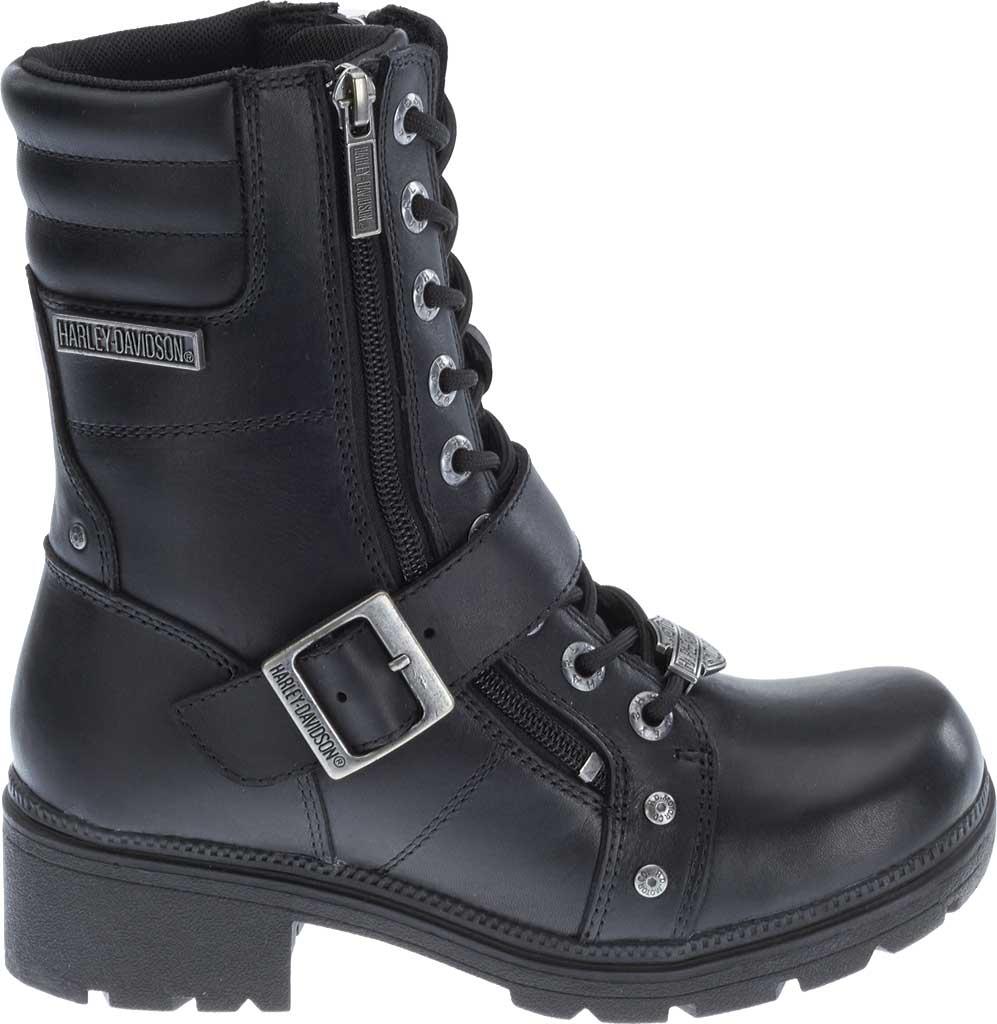 Women's Harley-Davidson Talley Ridge Combat Boot, Black Full Grain Leather, large, image 2