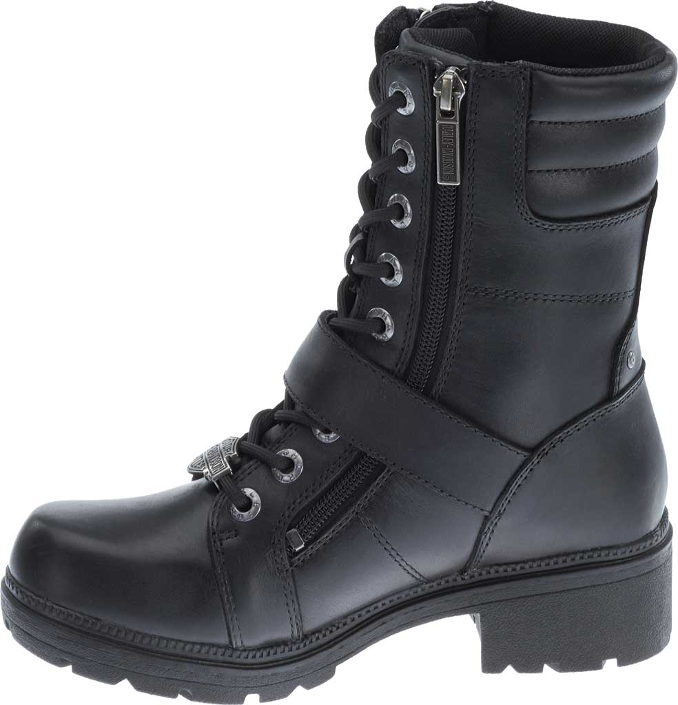 Women's Harley-Davidson Talley Ridge Combat Boot, Black Full Grain Leather, large, image 3