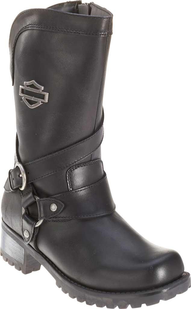 Women's Harley-Davidson Amber Harness Boot, Black Full Grain Leather, large, image 1