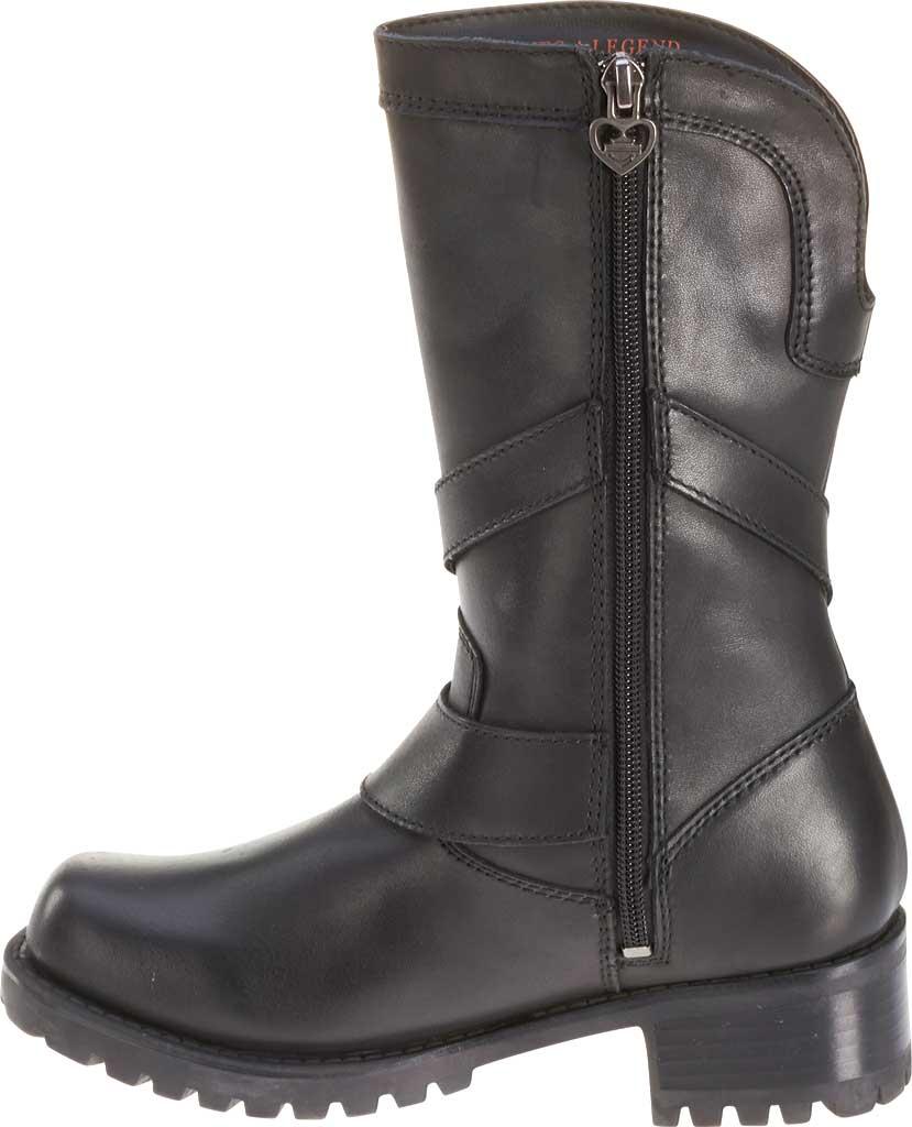 Women's Harley-Davidson Amber Harness Boot, Black Full Grain Leather, large, image 3
