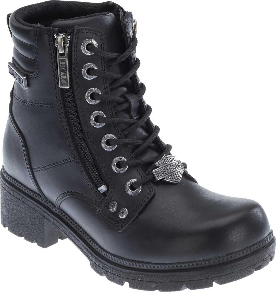 Women's Harley-Davidson Inman Mills Bootie, Black Full Grain Leather, large, image 1