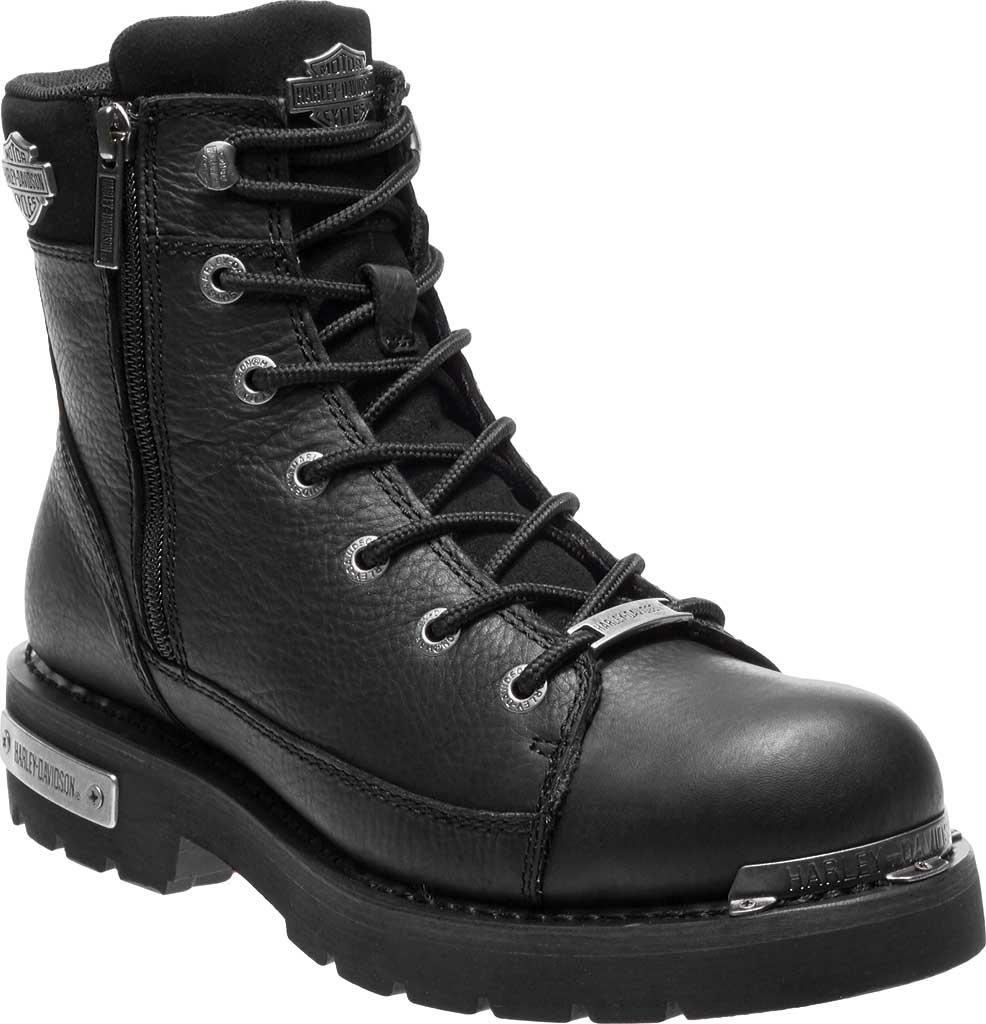 Men's Harley-Davidson Chipman Combat Boot, Black Full Grain Leather, large, image 1
