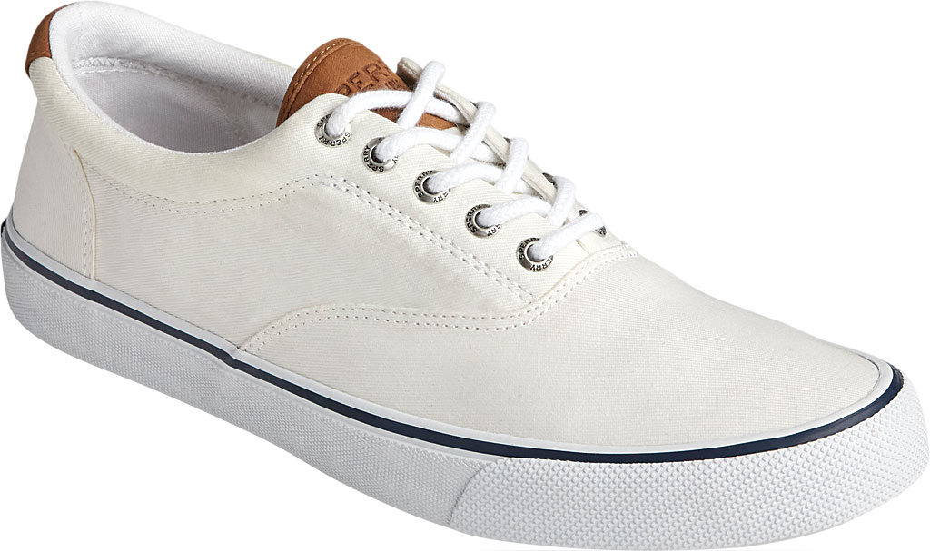 Men's Sperry Top-Sider Striper II CVO Washed Sneaker, Salt Washed White Canvas, large, image 1
