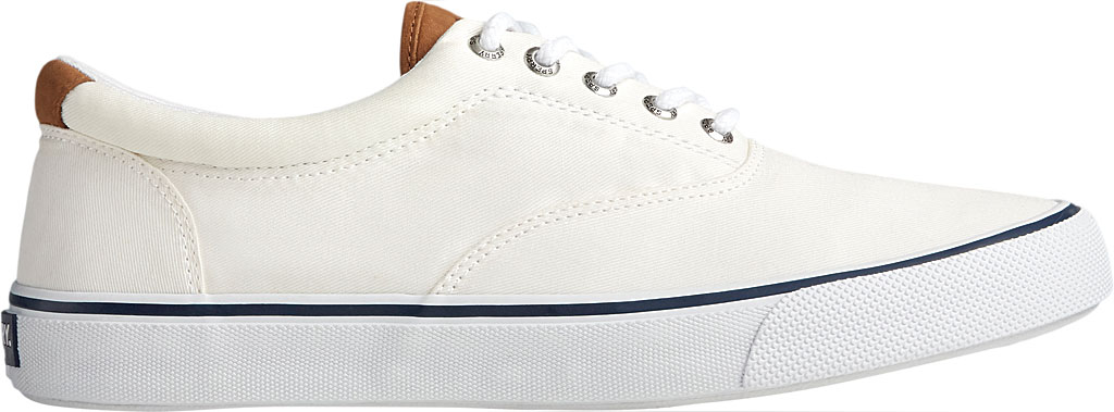 Men's Sperry Top-Sider Striper II CVO Washed Sneaker, Salt Washed White Canvas, large, image 2