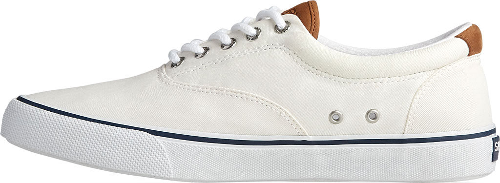 Men's Sperry Top-Sider Striper II CVO Washed Sneaker, Salt Washed White Canvas, large, image 3