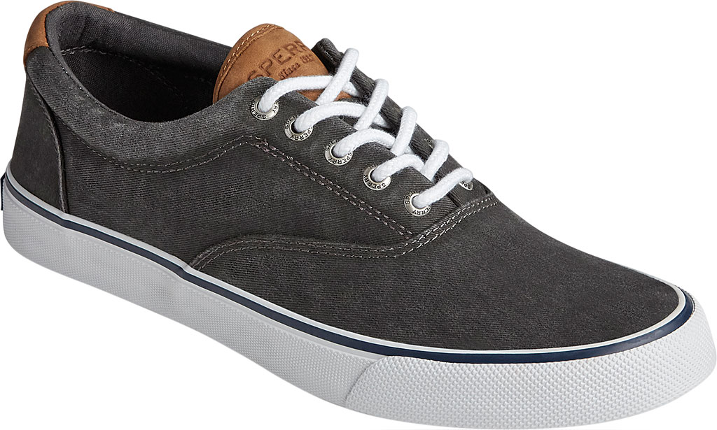Men's Sperry Top-Sider Striper II CVO Washed Sneaker, Salt Washed Black Canvas, large, image 1