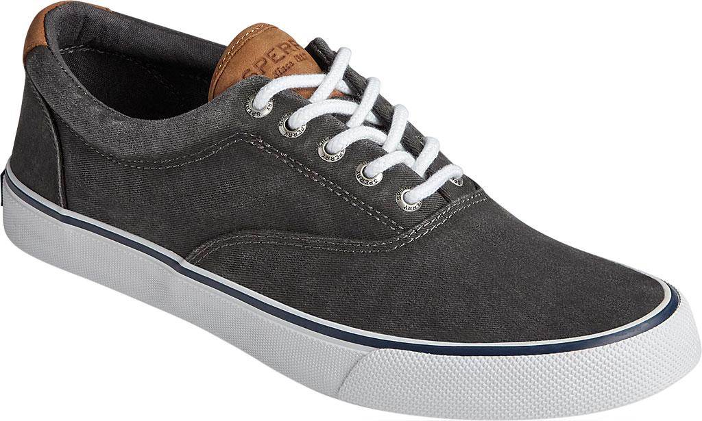 Men's Sperry Top-Sider Striper II CVO Washed Sneaker, Salt Washed Black Canvas, large, image 1