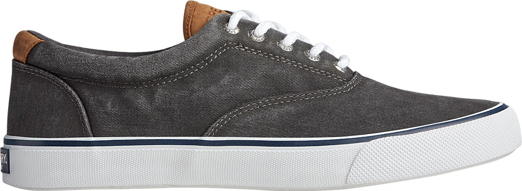 Men's Sperry Top-Sider Striper II CVO Washed Sneaker, Salt Washed Black Canvas, large, image 2