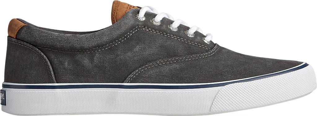 Men's Sperry Top-Sider Striper II CVO Washed Sneaker, Salt Washed Black Canvas, large, image 2