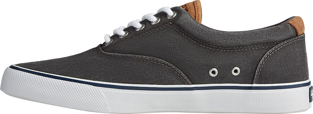 Men's Sperry Top-Sider Striper II CVO Washed Sneaker, Salt Washed Black Canvas, large, image 3