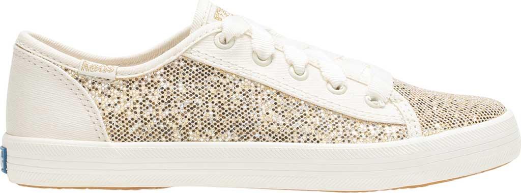 Girls' Keds Kickstart Seasonal Sneaker, Sparkle Textile, large, image 2