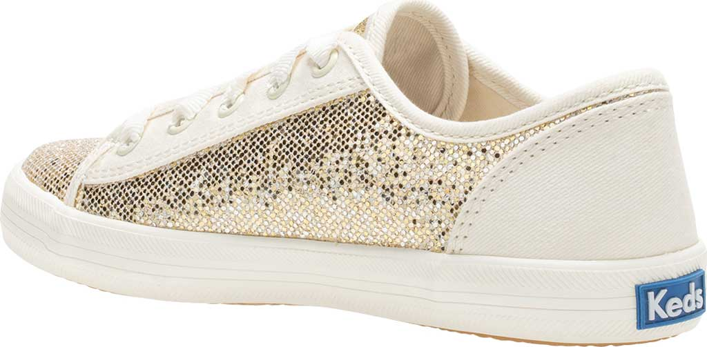 Girls' Keds Kickstart Seasonal Sneaker, Sparkle Textile, large, image 3