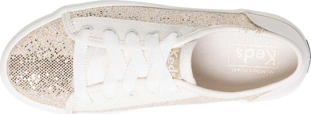 Girls' Keds Kickstart Seasonal Sneaker, Sparkle Textile, large, image 4