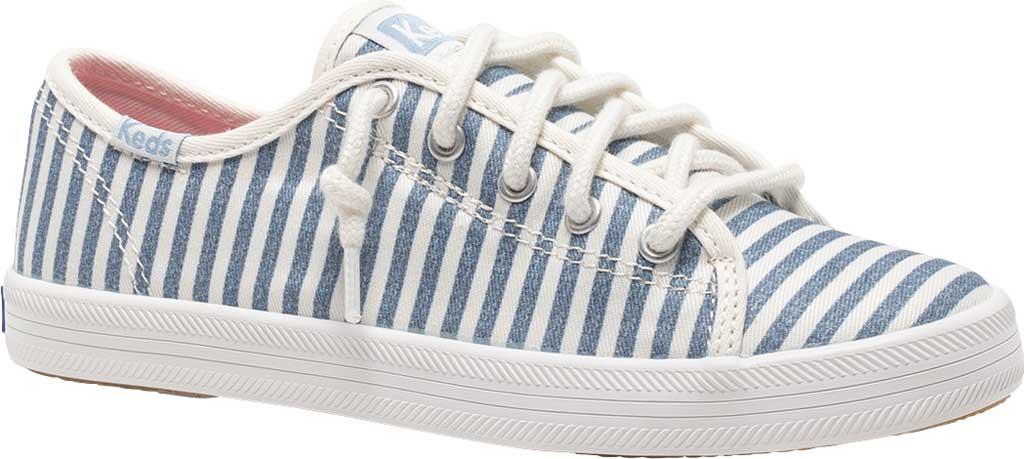 Girls' Keds Kickstart Seasonal Sneaker, Stripe Organic Cotton, large, image 1