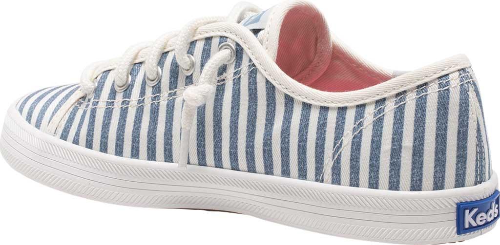 Girls' Keds Kickstart Seasonal Sneaker, Stripe Organic Cotton, large, image 3