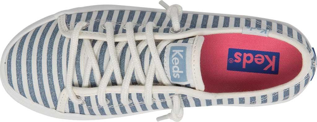 Girls' Keds Kickstart Seasonal Sneaker, Stripe Organic Cotton, large, image 4