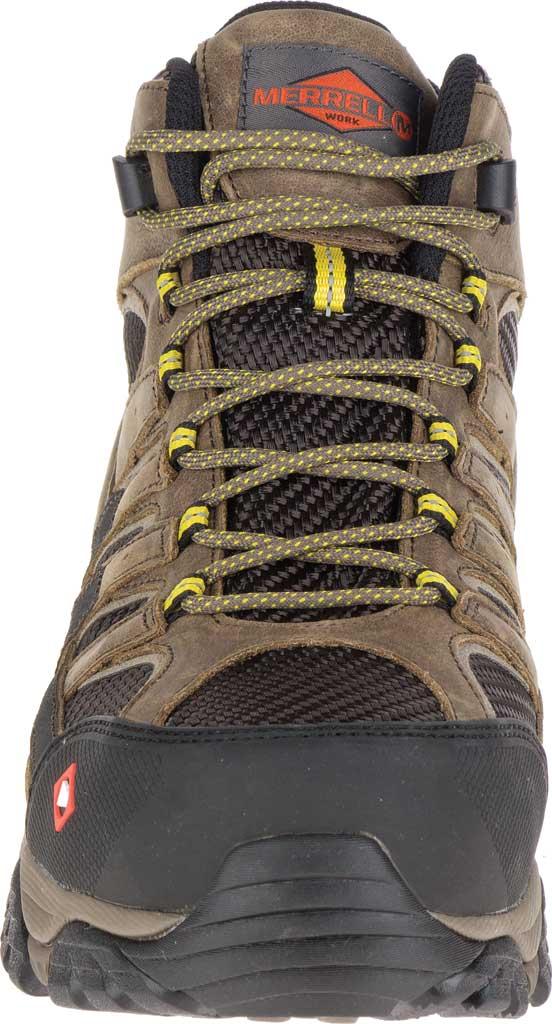 Men's Merrell Work Moab 2 Vent Mid Waterproof Composite Boot, Boulder Leather/Textile, large, image 4