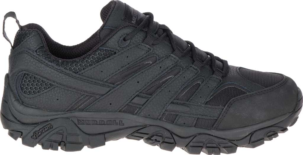 Men's Merrell Work Moab 2 Tactical Boot, Black Waterproof Leather/Ripstop Textile, large, image 2