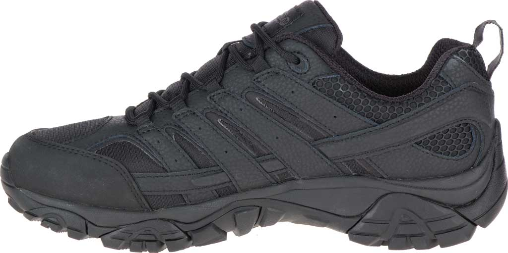 Men's Merrell Work Moab 2 Tactical Boot, Black Waterproof Leather/Ripstop Textile, large, image 3