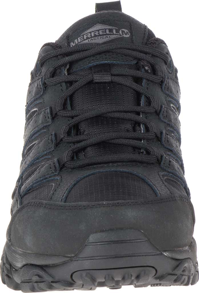 Men's Merrell Work Moab 2 Tactical Boot, Black Waterproof Leather/Ripstop Textile, large, image 4