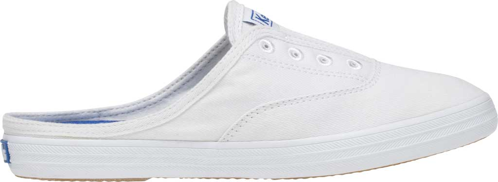 Women's Keds Moxie Mule Backless Sneaker, White Washed Twill, large, image 2