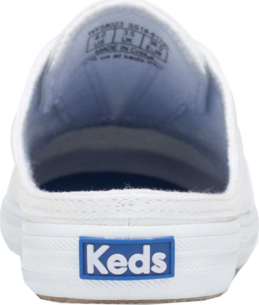 Women's Keds Moxie Mule Backless Sneaker, White Washed Twill, large, image 3
