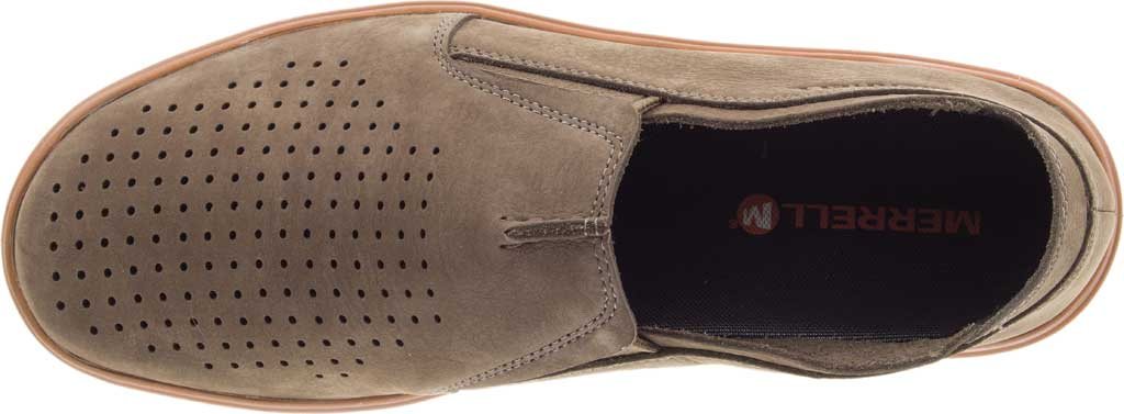 Men's Merrell Downtown Moccasin, Olive Full Grain Leather, large, image 6