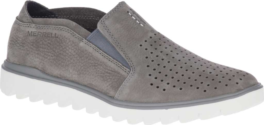 Men's Merrell Downtown Moccasin, Charcoal Full Grain Leather, large, image 1