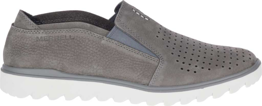 Men's Merrell Downtown Moccasin, Charcoal Full Grain Leather, large, image 2
