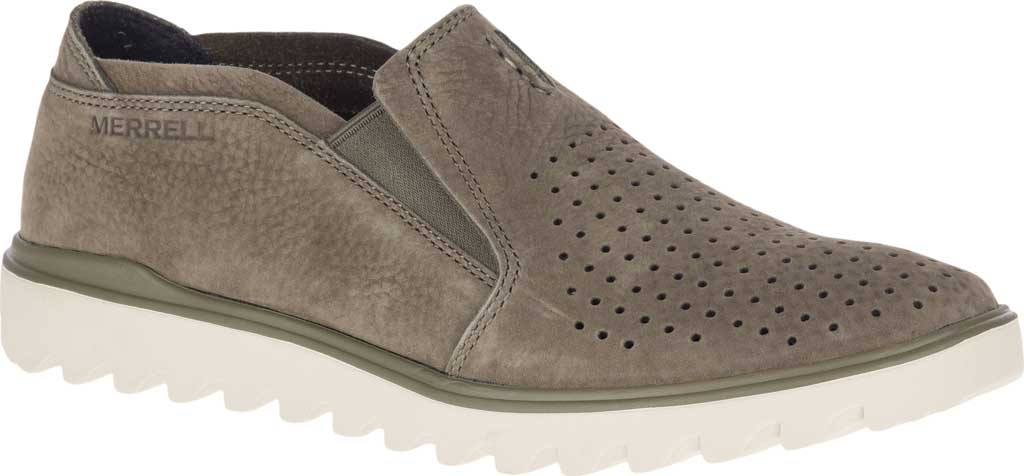 Men's Merrell Downtown Moccasin, Olive Full Grain Leather, large, image 1