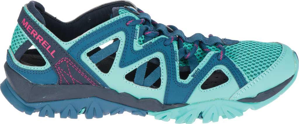 Women's Merrell Tetrex Crest Wrap Water Shoe, Legion Blue Synthetic/Textile, large, image 2