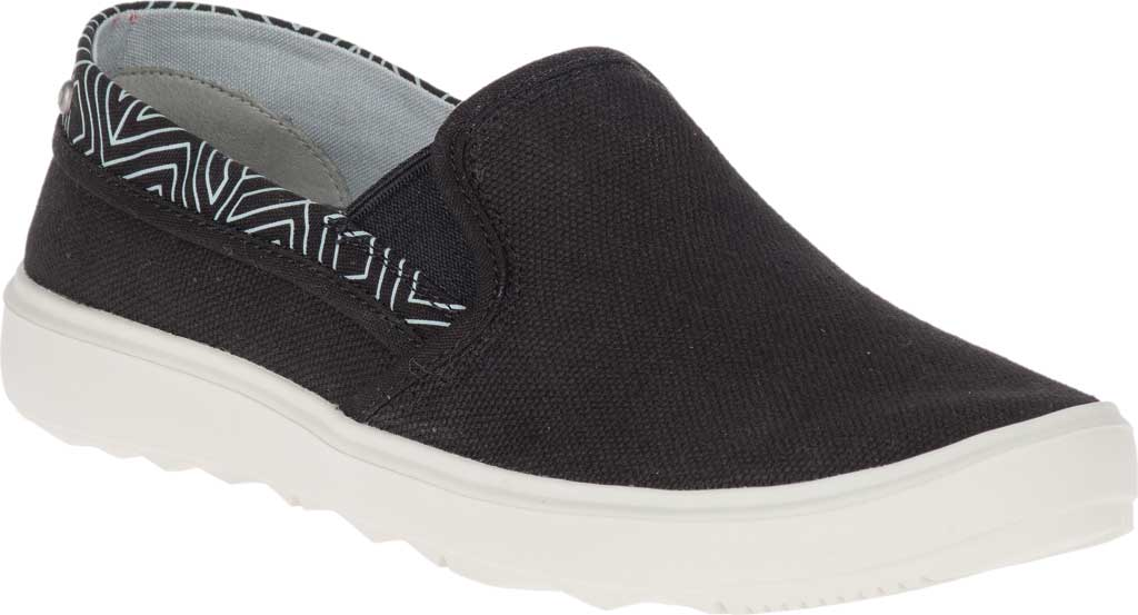 Women's Merrell Around Town City Moc Canvas Sneaker, Black Canvas, large, image 1