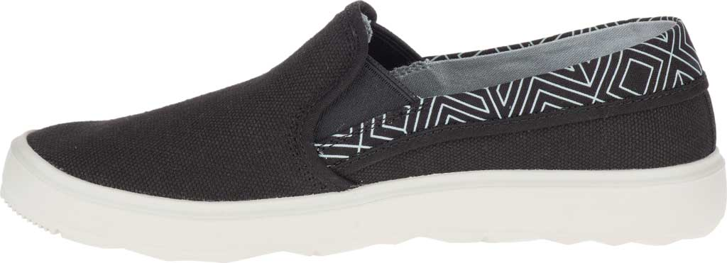 Women's Merrell Around Town City Moc Canvas Sneaker, Black Canvas, large, image 3