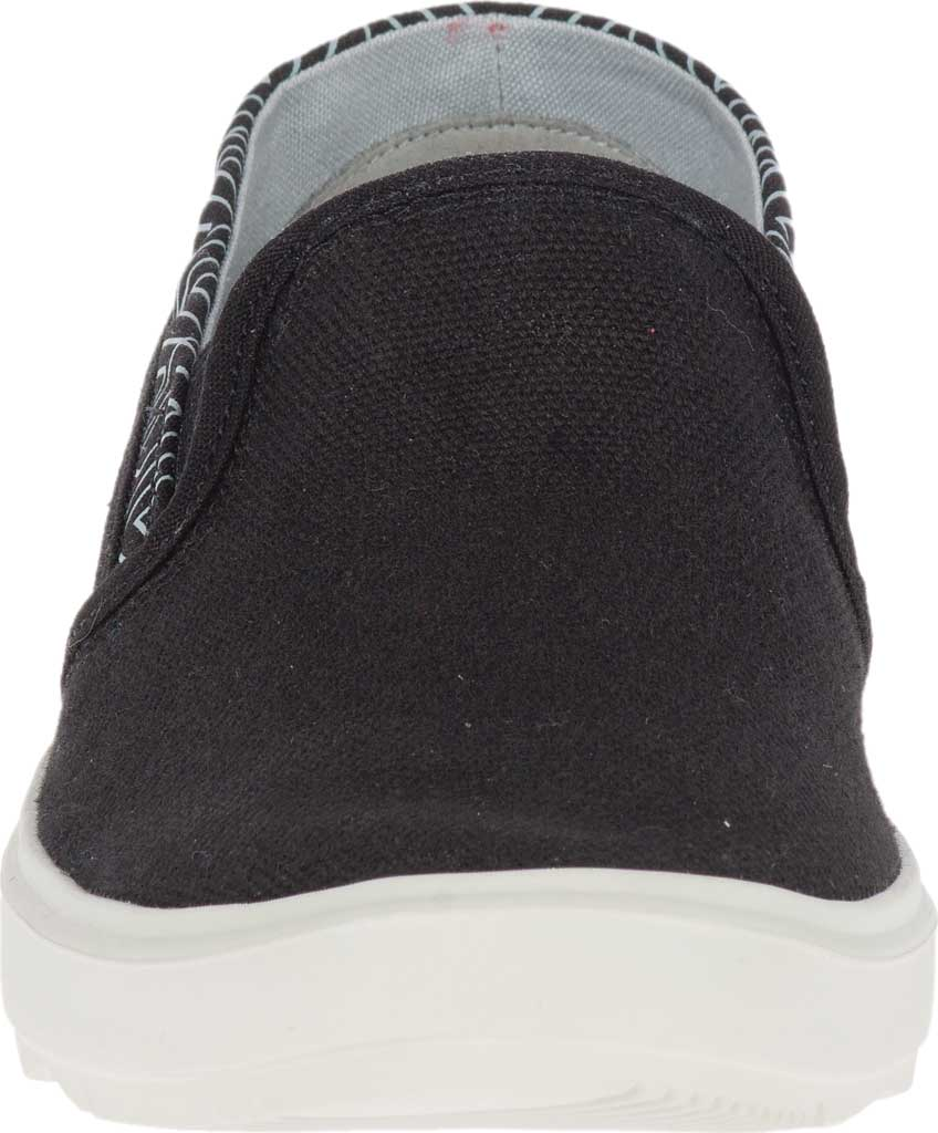 Women's Merrell Around Town City Moc Canvas Sneaker, Black Canvas, large, image 4