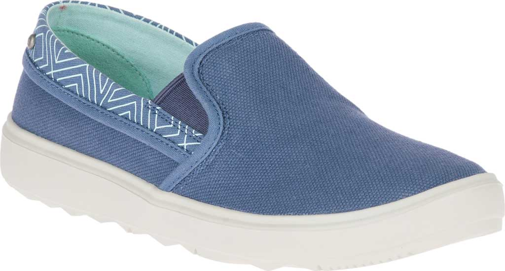Women's Merrell Around Town City Moc Canvas Sneaker, Bering Sea Canvas, large, image 1