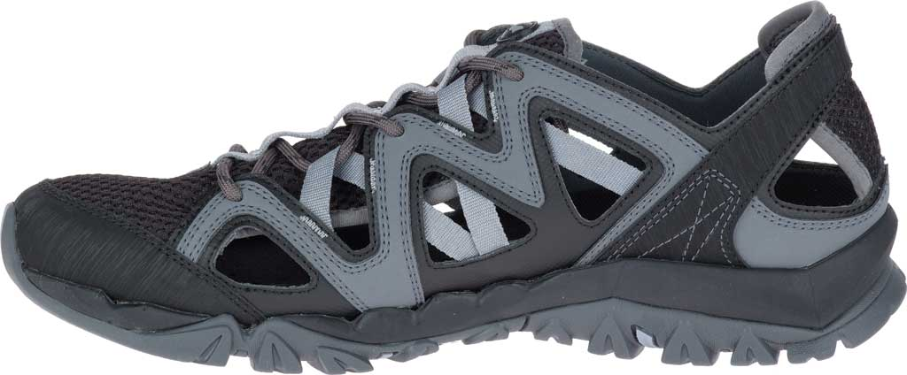 Men's Merrell Tetrex Crest Wrap Water Shoe, Black Synthetic/Textile, large, image 3