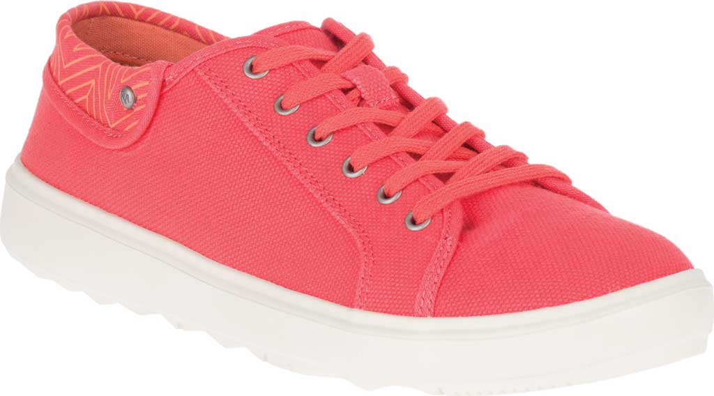 Women's Merrell Around Town City Canvas Sneaker, Hot Coral Canvas, large, image 1