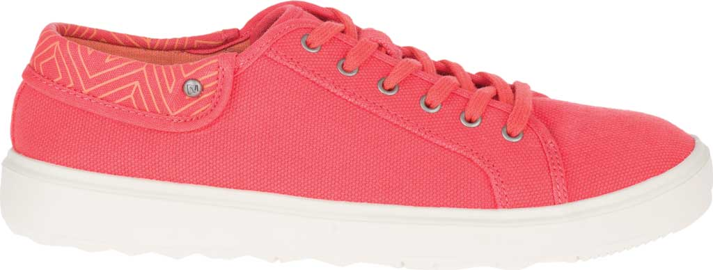 Women's Merrell Around Town City Canvas Sneaker, Hot Coral Canvas, large, image 2