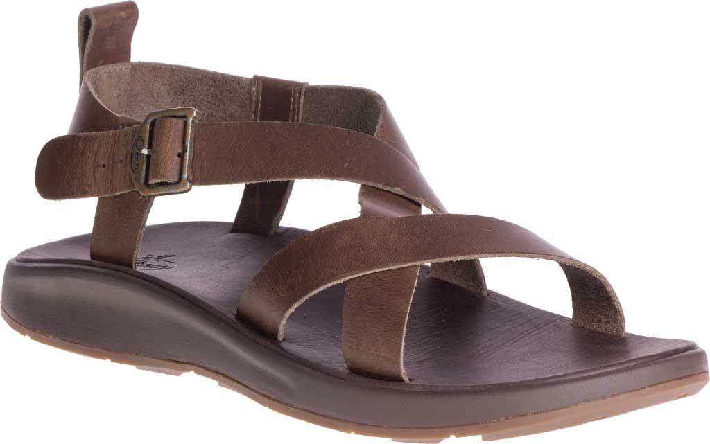 Men's Chaco Wayfarer Leather Sandal, Otter Full Grain Leather, large, image 1