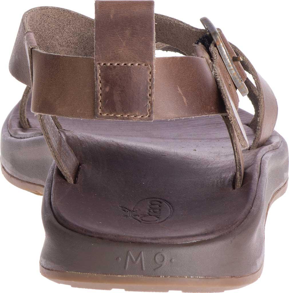 Men's Chaco Wayfarer Leather Sandal, Otter Full Grain Leather, large, image 4