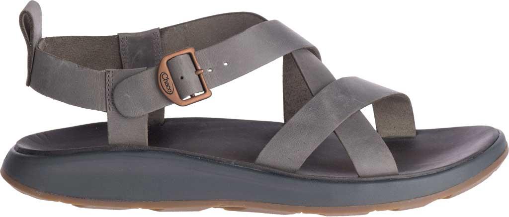 Men's Chaco Wayfarer Leather Sandal, Gray Full Grain Leather, large, image 2